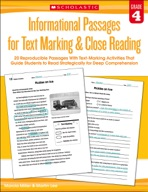 Informational Passages for Text Marking & Close Reading: Grade 4 (Enhanced Ebook)