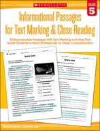 Informational Passages for Text Marking & Close Reading: Grade 5 (Enhanced Ebook)