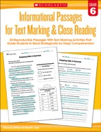 Informational Passages for Text Marking & Close Reading: Grade 6