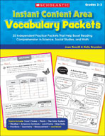 Instant Content Area Vocabulary Packets (Enhanced eBook)