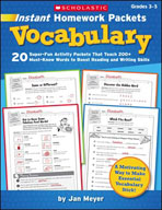 Instant Homework Packets: Vocabulary