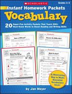 Instant Homework Packets: Vocabulary (Enhanced eBook)
