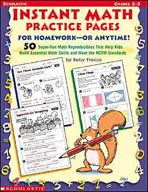Instant Math Practice Pages for Homework - or Anytime!