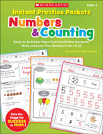 Instant Practice Packets: Numbers and Counting