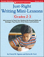 Just-Right Writing Mini-Lessons: Grades 2-3