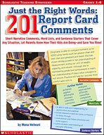 Just the Right Words: 201 Report Card Comments (Enhanced eBook)