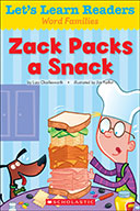 Let's Learn Readers™ Word Families: Zack Packs a Snack (eBook)