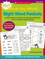MORE Week-by-Week Sight Word Packets