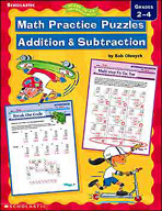 Math Practice Puzzles: Addition & Subtraction
