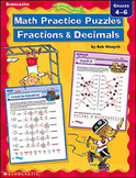 Math Practice Puzzles: Fractions and Decimals