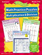 Math Practice Puzzles Multiplication & Division (Enhanced eBook)