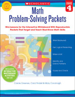 Math Problem-Solving Packets: Grade 4 (Promethean Version)