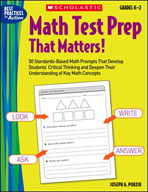 Math Test Prep That Matters! Grades K-2 (Enhanced eBook)