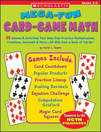 Mega-Fun Card-Game Math: Grades 3-5 (Enhanced eBook)