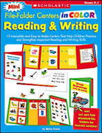 Mini File-Folder Centers in Color: Reading and Writing, Grades K-1 (Enhanced eBook)