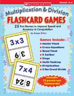 Multiplication and Division Flashcard Games (Enhanced eBook)