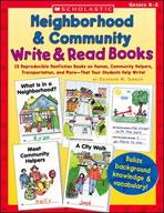 Neighborhood & Community Write & Read Books