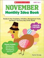 November Monthly Idea Book (Enhanced eBook)
