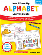 Now I Know My Alphabet Learning Mats (Enhanced eBook)
