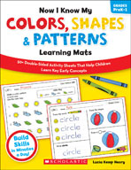 Now I Know My Colors, Shapes and Patterns Learning Mats
