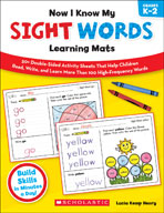Now I Know My Sight Words Learning Mats (Enhanced eBook)
