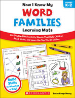 Now I Know My Word Families Learning Mats (Enhanced eBook)