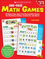 One-Page Math Games (Enhanced eBook)
