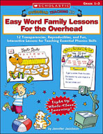 Overhead Teaching Kit: Easy Word Family Lessons For the Overhead (Enhanced eBook)