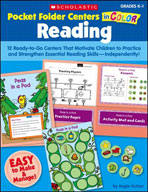 Pocket-Folder Centers in Color: Reading Grades K-1 (Enhanced eBook)