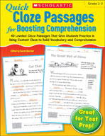 Quick Cloze Passages for Boosting Comprehension: Grades 2-3 (Enhanced eBook)