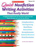 Quick Nonfiction Writing Activities That Really Work! (Enh