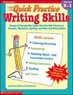 Quick Practice: Writing Skills: Grades K-1 (Enhanced eBook)