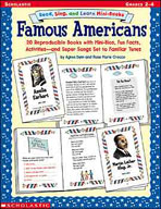 Read, Sing, and Learn Mini-Books: Famous Americans (Enhanced eBook)
