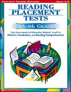 Reading Placement Tests: 4th to 6th Grades