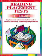 Reading Placement Tests: First Grade (Enhanced eBook)