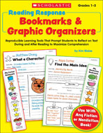 Reading Response Bookmarks and Graphic Organizers (Enhance