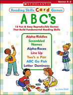 Reading Skills Card Games: ABC's (Enhanced eBook)