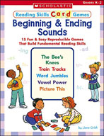 Reading Skills Card Games: Beginning and Ending Sounds