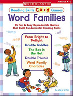 Reading Skills Card Games: Word Families (Enhanced eBook)