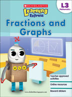Scholastic Learning Express Level 3: Fractions and Graphs (Enhanced eBook)