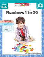 Scholastic Study Smart: Numbers 1 to 30: Kindergarten - Gr
