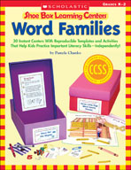 Shoe Box Learning Centers: Word Families (Enhanced eBook)