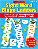 Sight Word Bingo Ladders