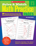 Solve and Match Math Practice Pages: Grades 2-3