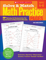 Solve and Match Math Practice Pages: Grades 4-6