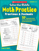 Solve-the-Riddle Math Practice: Fractions and Decimals
