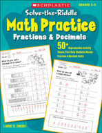 Solve-the-Riddle Math Practice: Fractions and Decimals (En