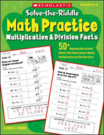 Solve-the-Riddle Math Practice: Multiplication & Division Facts (Enhanced eBook)