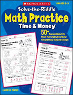 Solve-the-Riddle Math Practice: Time and Money (Enhanced eBook)