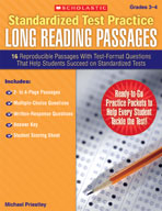 Standardized Test Practice: Long Reading Passages: Grades 3-4 (Enhanced eBook)